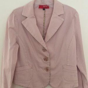 Spring Blazer Jacket, cotton, pink